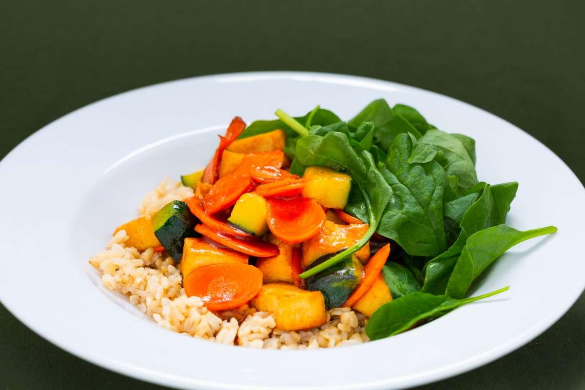 Simple Cafe All Natural Organic Tofu Rice Bowl